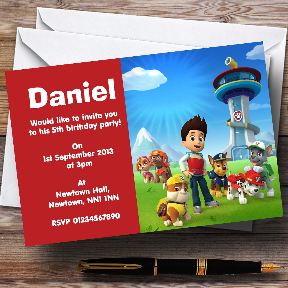 10 x Personalised Children\'s Birthday Party Invitations Kids Invites ...