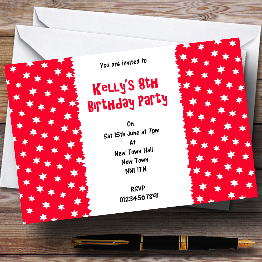 Pack Of 10 Personalised Children\'s Birthday Party Invitations Kids ...