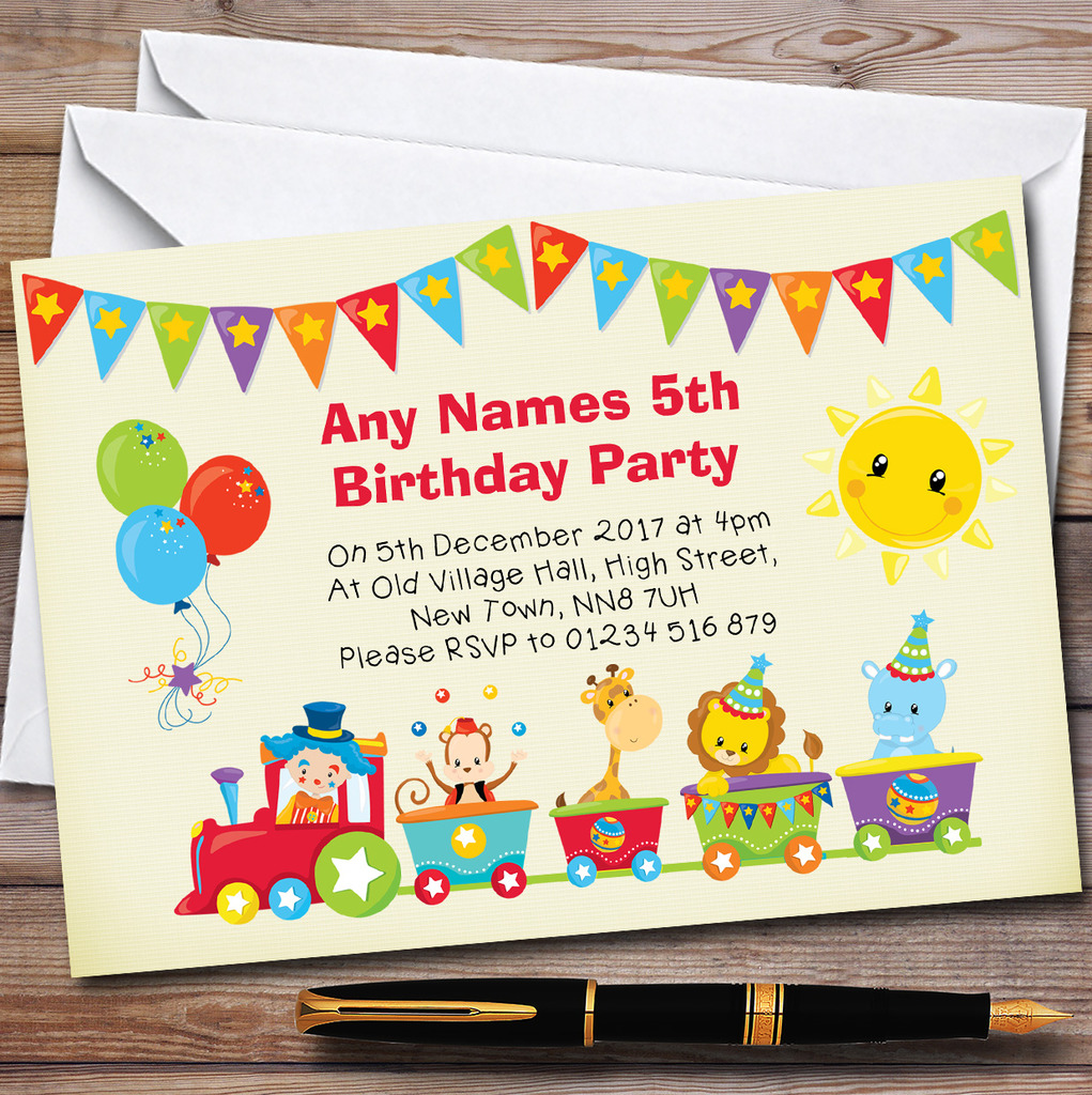 Pack Of 10 Personalised Children's Birthday Party